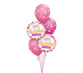 Pink and Gold Birthday (Latex will Vary) in Chatham ON, Pizazz!  Florals & Balloons