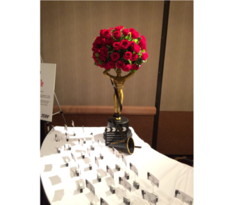 Red Rose Oscar Place Card Table in Somerset NJ, Flower Station