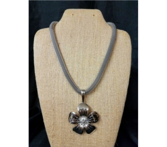 SILVER FLOWER NECKLACE in Greenfield IN, Penny's Florist Shop, Inc.