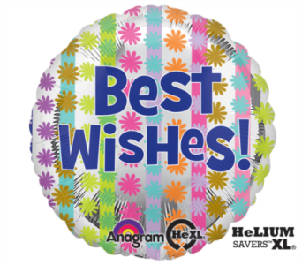 Best Wishes Mylar Balloon in Norristown PA, Plaza Flowers