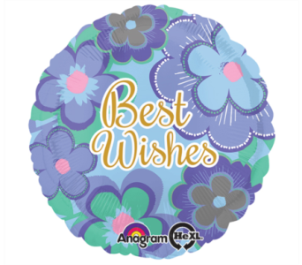 Best Wishes Flower Mylar Balloon in Norristown PA, Plaza Flowers