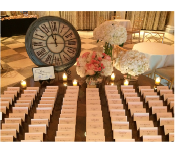 Rose & Hydrangea Place Card Table in Somerset NJ, Flower Station