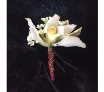 Sample Boutonniere in Wynantskill NY, Worthington Flowers & Greenhouse