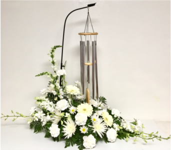 Purely White Wind Chime Arrangement in Wyoming MI, Wyoming Stuyvesant Floral