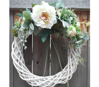 White Willow Wreath in Lawrence KS, Owens Flower Shop Inc.