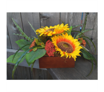 Sunflowers in Box in Lawrence KS, Owens Flower Shop Inc.