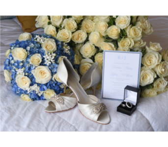 Blue & White Bridal Bouquets in Somerset NJ, Flower Station