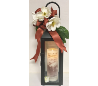 Magnolia Black Manhattan Lantern w/Memorial Candle in Wyoming MI, Wyoming Stuyvesant Floral