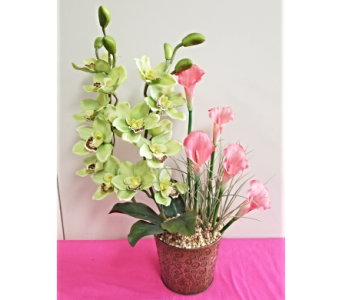 Orchid and Cala Lily in Lehigh Acres FL, Bright Petals Florist, Inc.