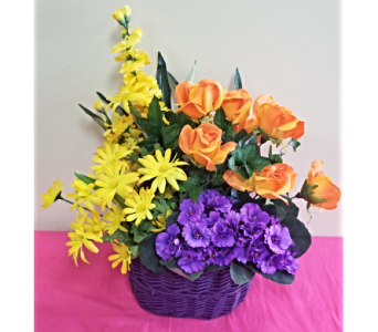 Spring Purple Basket in Lehigh Acres FL, Bright Petals Florist, Inc.