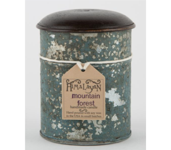 Himalayan Trading Post Teal Spice Tin Candle in Mitchell SD, Nepstads Flowers And Gifts