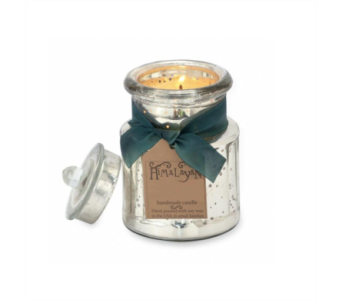 Himalayan General Store Silver Jar Soy Candle in Mitchell SD, Nepstads Flowers And Gifts