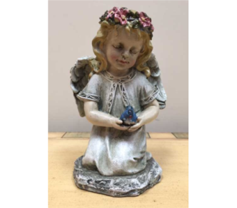 Angel with Bird in Brownsburg IN, Queen Anne's Lace Flowers & Gifts