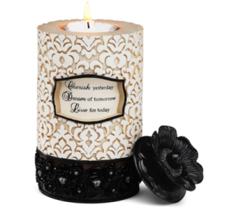 Cherish, Dream, Live Tealight Candle Holder in Eugene OR, Dandelions Flowers