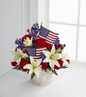 Patriotic Basket in Jensen Beach FL, Brandy's Flowers & Candies