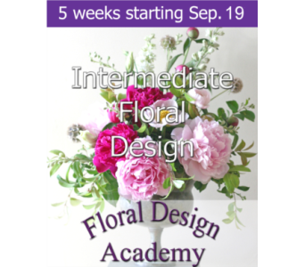 Intermediate Floral Design 9/19 in Norristown PA, Plaza Flowers
