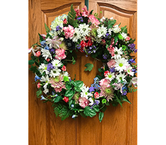 Garden Wreath Homage in Wolfeboro Falls NH, Linda's Flowers & Plants