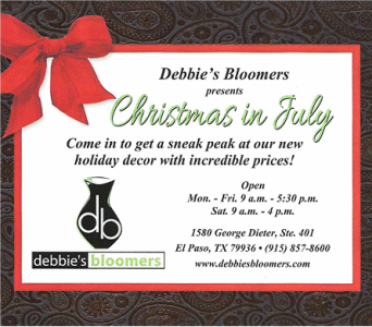 Christmas in July in El Paso TX, Debbie's Bloomers