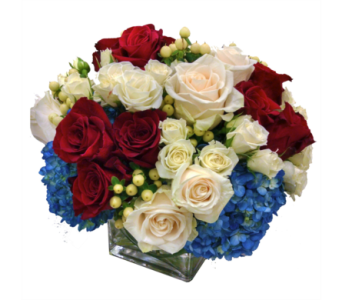 Waves of Red, White & Blue in Santa Monica CA, Edelweiss Flower Boutique