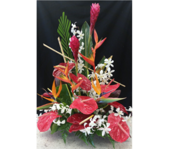 MTF629 Tropical One Sided A Frame Arrangement in Mililani Town HI, Mililani Town Florist