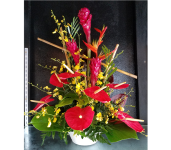 T002 Tropical One Sided Arrangement in Mililani Town HI, Mililani Town Florist