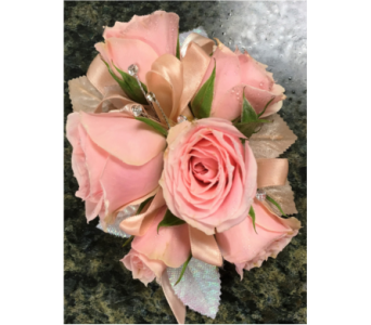 Pink and Rinestone Corsage in Clearwater FL, Hassell Florist