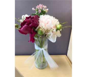 Peony & Wax Flower in Spruce Grove AB, Flower Fantasy & Gifts