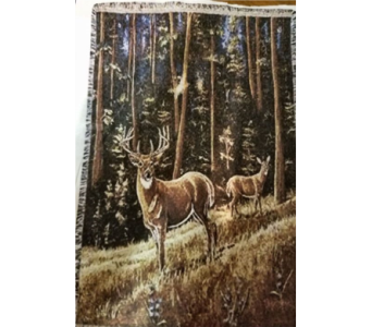 White tail morning throw in Crown Point IN, Debbie's Designs