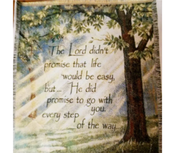 THe Lord didn't promise throw in Crown Point IN, Debbie's Designs
