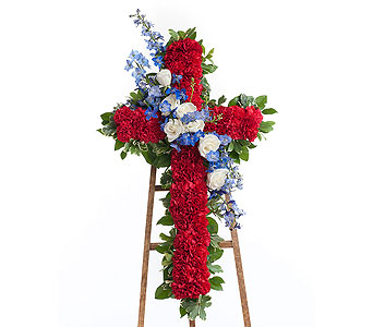 Patriotic Cross in Dallas TX, In Bloom Flowers, Gifts and More