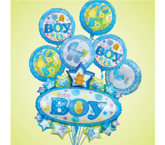 It's A Boy w/ Oversize Mylar Balloon Bouquet in Princeton, Plainsboro, & Trenton NJ, Monday Morning Flower and Balloon Co.