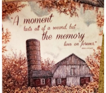 A Moment Lasts a Second throw in Crown Point IN, Debbie's Designs