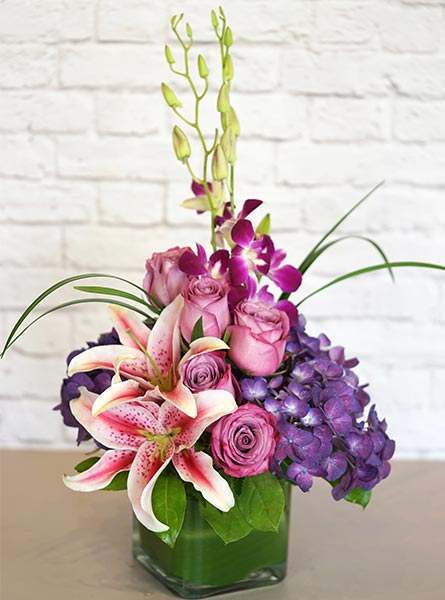 RUSH DELIVERY: Purples in Paris in Arlington Heights IL, Sylvia's - Amlings Flowers