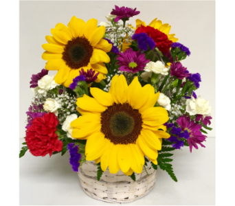 Sunflower Basket Arrangement - 8 inch basket in Wyoming MI, Wyoming Stuyvesant Floral