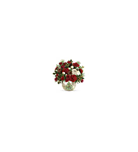 Teleflora's Classic Pearl Ornament Bouquet in Milwaukee WI, Flowers by Jan