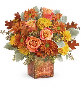 Teleflora's Grateful Golden Bouquet in Jamesburg NJ, Sweet William & Thyme