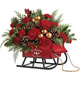 Teleflora's Vintage Sleigh Bouquet in Sarasota FL, Flowers By Fudgie On Siesta Key