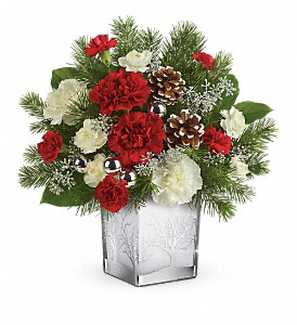 Teleflora's Woodland Winter Bouquet in Dubuque IA, New White Florist
