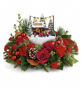 Thomas Kinkade's Festive Moments Bouquet in Dubuque IA, New White Florist