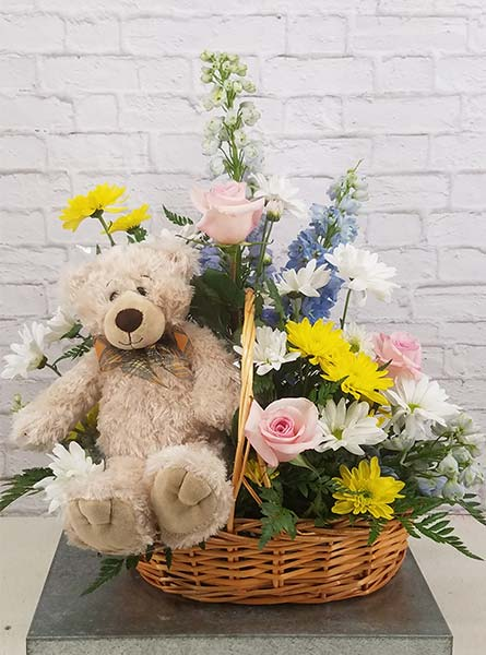 Snuggle Bear Bouquet in Arlington Heights IL, Sylvia's - Amlings Flowers