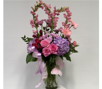 Loving Heart Garden Bouquet in Merrick NY, Flowers By Voegler
