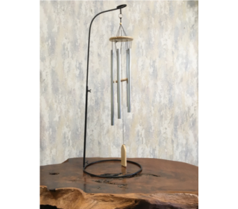 Natural Pine Wind Chime on Stand in Wyoming MI, Wyoming Stuyvesant Floral