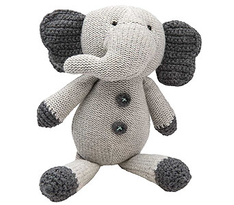Crochet Elephant Toy in Detroit and St. Clair Shores MI, Conner Park Florist