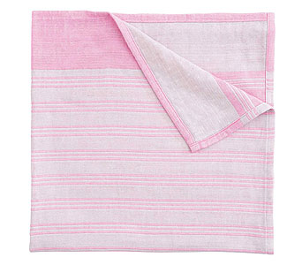 Soft Muslin Blanket, Pink Stripe in Detroit and St. Clair Shores MI, Conner Park Florist