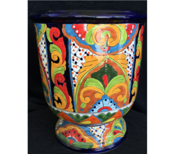Tall Talavera Pot in Orlando FL, Harry's Famous Flowers