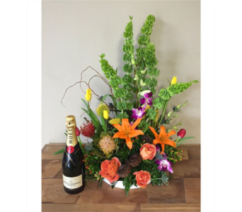 Moet Champagne -with flowers!  in Portland OR, Portland Florist Shop