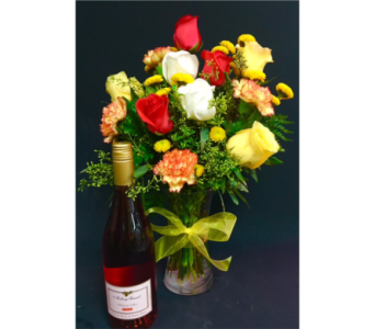 Wine and Flowers in Portland OR, Portland Florist Shop