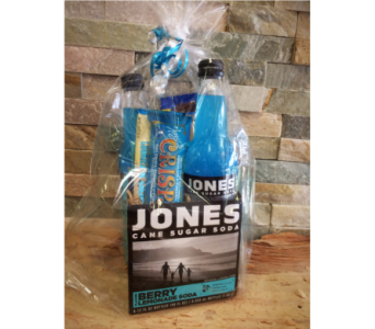 Jones Soda Basket (B) in Lawrence KS, Englewood Florist