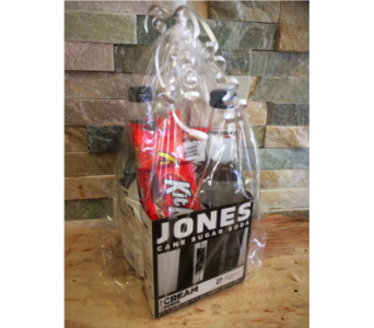 Jones Soda Basket (W) in Lawrence KS, Englewood Florist