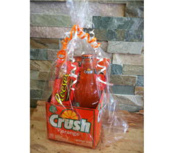 Orange Crush Basket in Lawrence KS, Englewood Florist